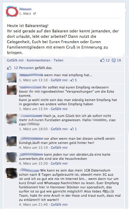 Facebook-Interaktion